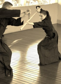 The challenge of  transmission within any archaic martial art can be frought with peril, not least when it is cross-generational and  cross-cultural. Above: a small cadre of Australian students keep alive the dynamic Noda-ha Tenshin Shoden Katori Shinto Ryu